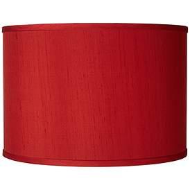 China Red Silk Dupioni Shade 12x12x8 5 Spider