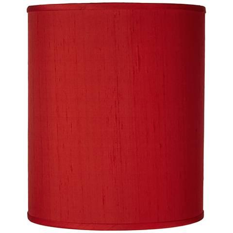 China Red Textured Silk Shade 10x10x12 (Spider)