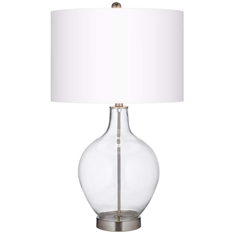 Clear Glass Fillable Ovo Table Lamp