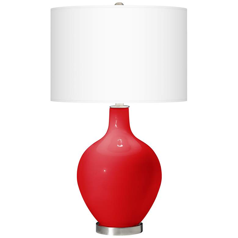 Bright Red Ovo Table Lamp