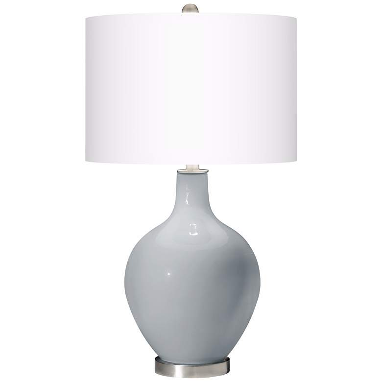 Uncertain Gray Ovo Table Lamp