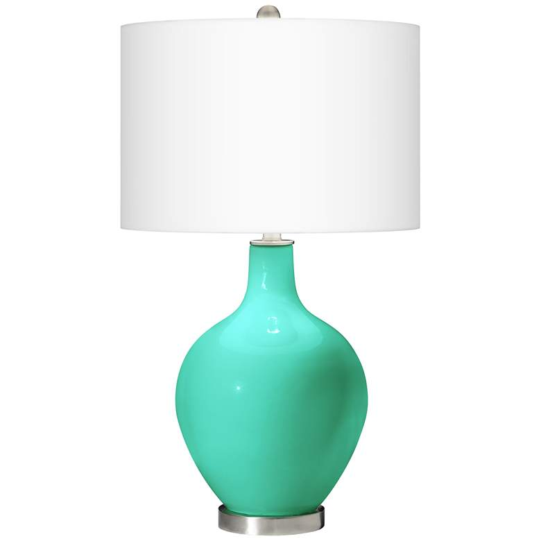 Turquoise Ovo Designer Table Lamp by Color Plus