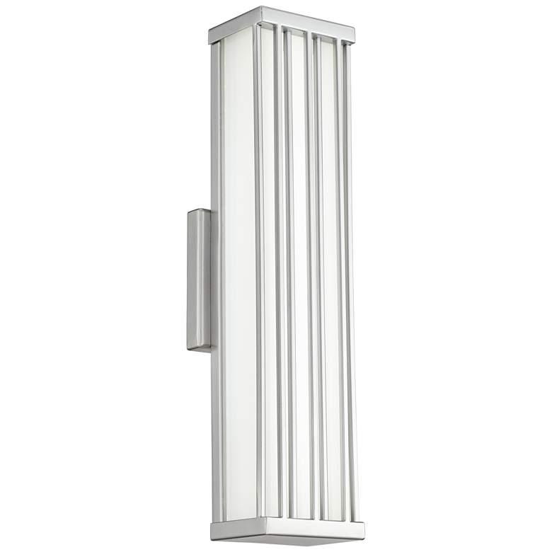 "Barelo 18 1/2"" High Matte Nickel LED Outdoor Wall Light"