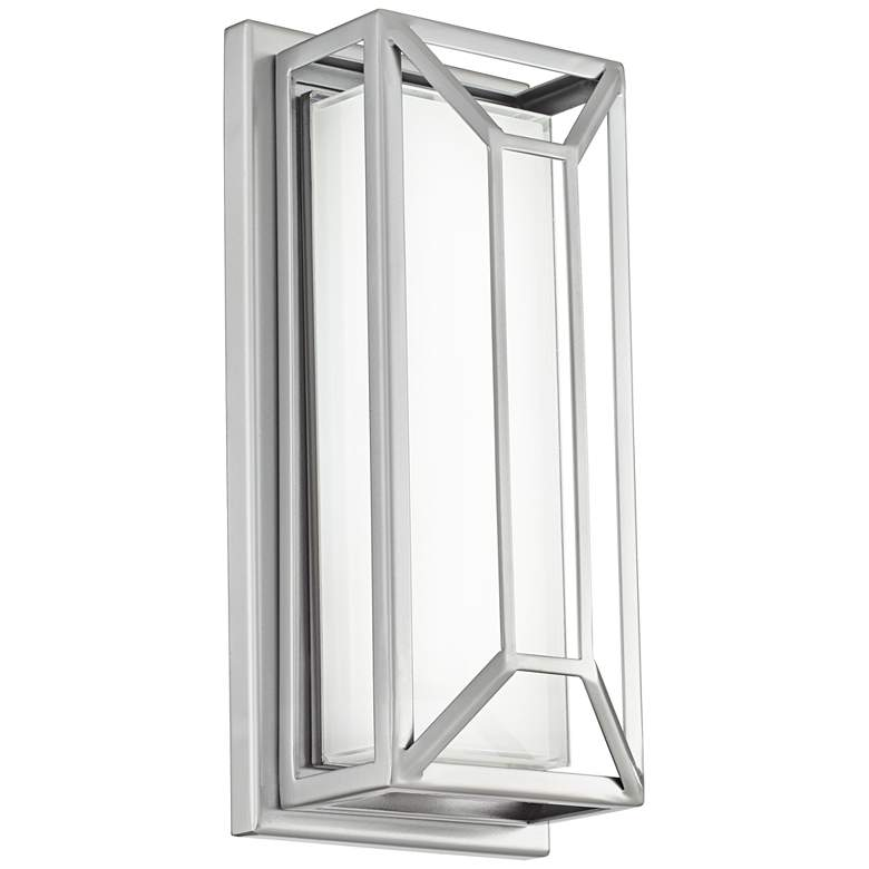 """Radcliffe 12"""" High Matte Nickel LED Outdoor Wall Light"""
