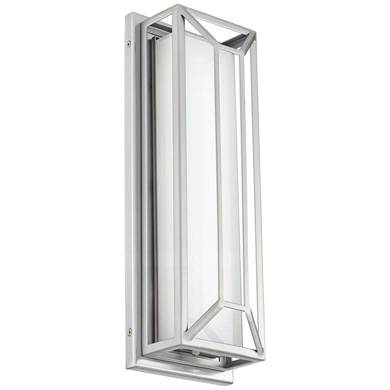 """Radcliffe 16"""" High Matte Nickel LED Outdoor Wall Light"""