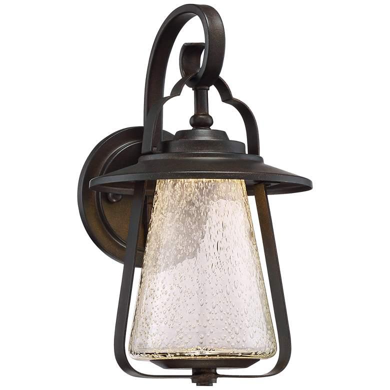 "Grandfield 12 1/2"" High Bronze LED Outdoor Wall Light"