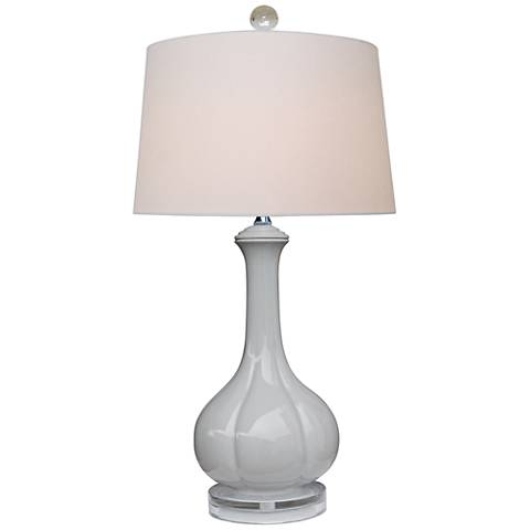 Strata Light Gray Porcelain Table Lamp
