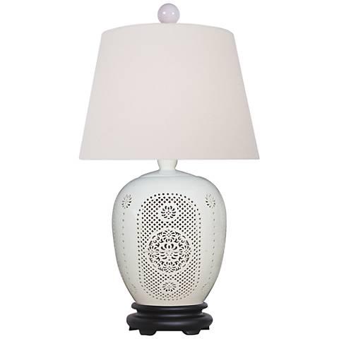 Bone China Lace Porcelain Jug Table Lamp
