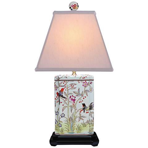 Paradiso Multi-Color Rectangular Jar Porcelain Table Lamp