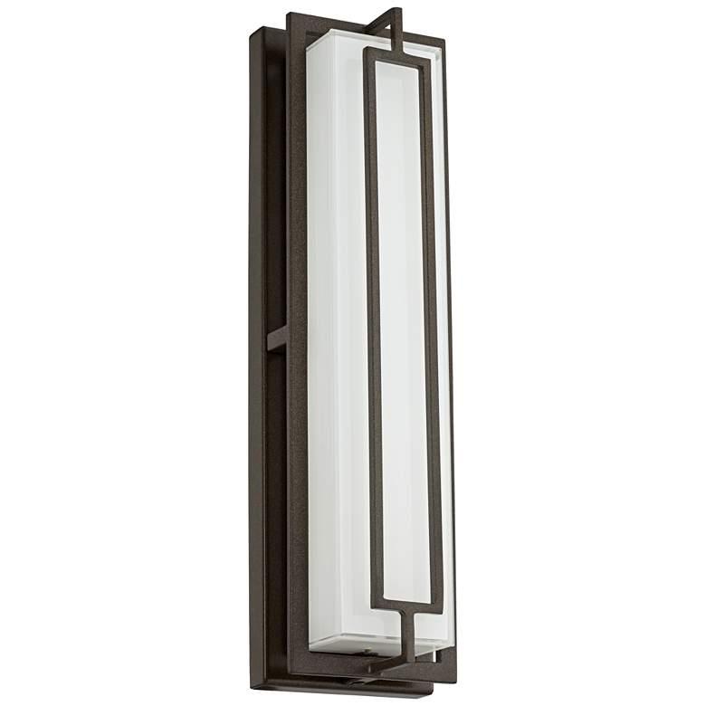 """Belfonte 16 1/4"""" High Bronze LED Outdoor Wall Light"""