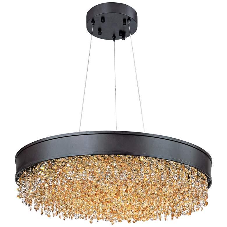 "Maxim Mystic 24"" Wide Bronze LED Pendant Light"