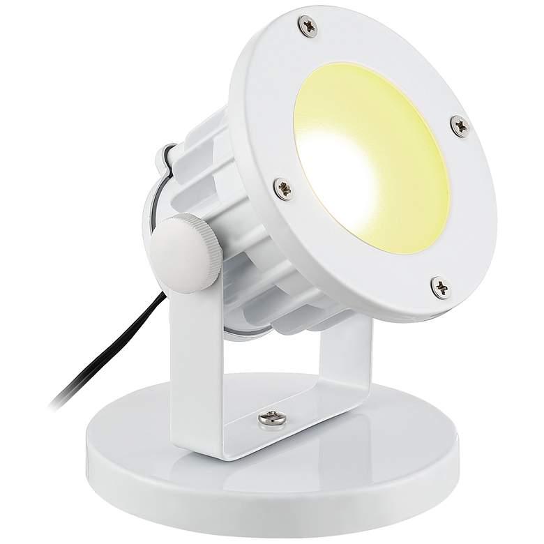 """Virgil White 3 1/2"""" High Plug-In LED Uplight"""