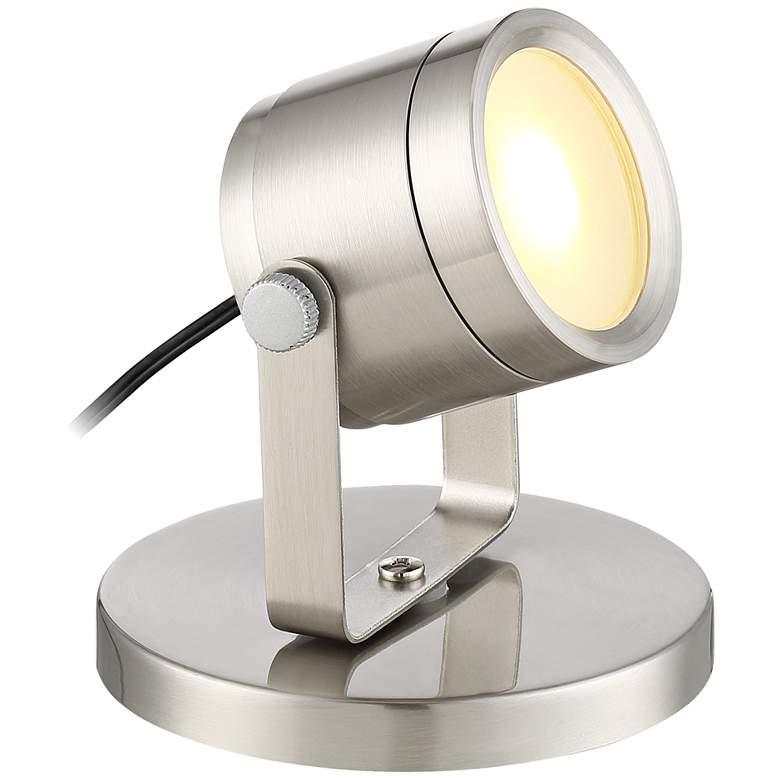 "Ladera Brushed Nickel 3 1/2"" High LED Uplight"