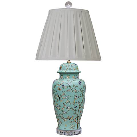 Temple Robin Egg Blue Porcelain Jar Table Lamp