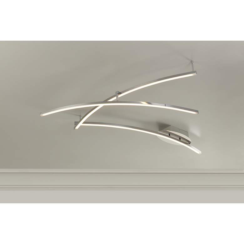 Wilfax Brushed Nickel 3-Arm LED Track Fixture by Pro Track