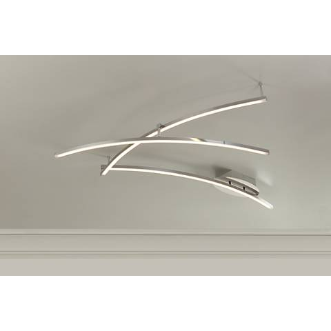 Wilfax Brushed Steel Non-Dimmable LED 3-Light Track Fixture