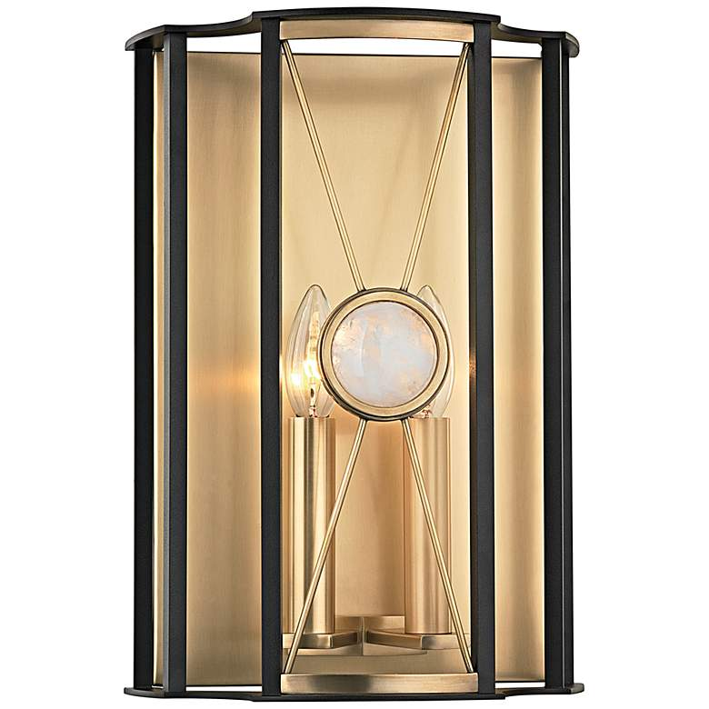 """Hudson Valley Cresson 14"""" High Aged Brass Wall Sconce"""