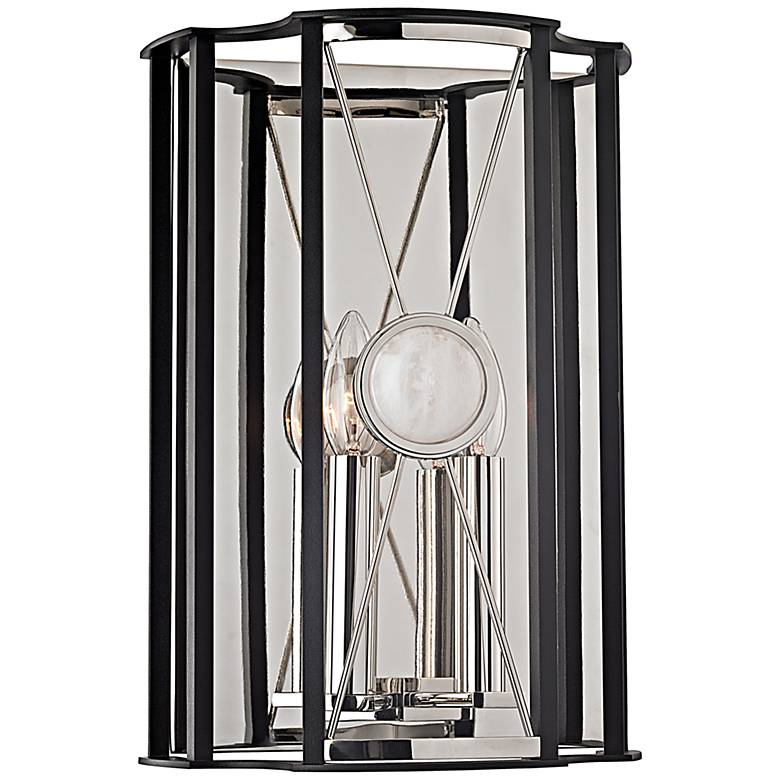 """Hudson Valley Cresson 14""""H Polished Nickel Wall Sconce"""