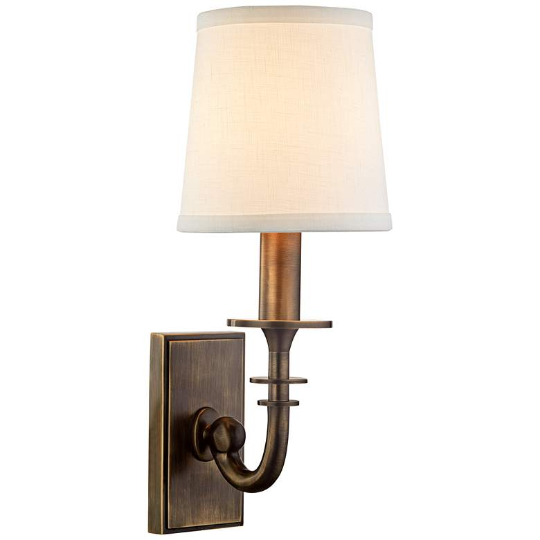 "Carroll 13"" High Distressed Bronze Wall Sconce"