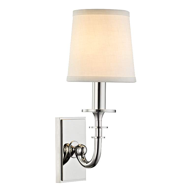 """Hudson Valley Carroll 13""""H Polished Nickel Wall Sconce"""