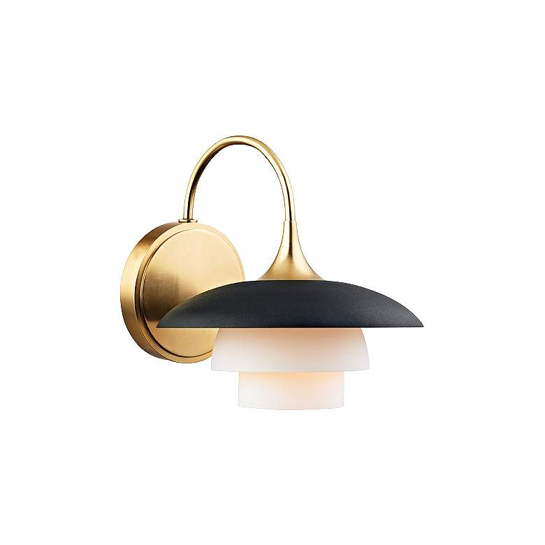 """Hudson Valley Barron 8 1/4""""H Aged Brass Wall Sconce"""