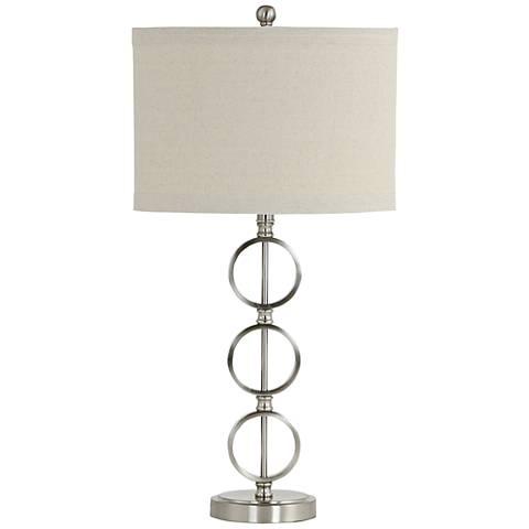 Zandra Brushed Nickel 3-Ring Table Lamp
