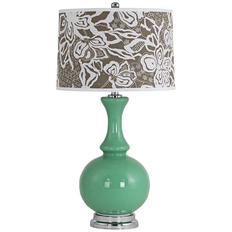 Nabila Celadon Green Glass Vase Table Lamp