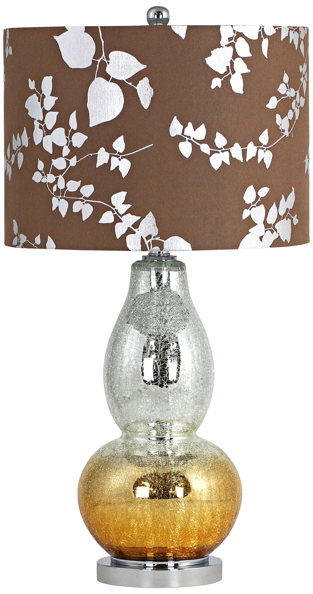 Isola Silver Copper Crackle Glass Gourd Table Lamp