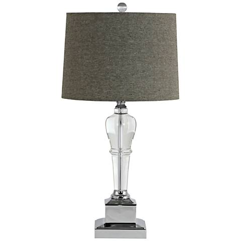 Candace Clear Crystal Trophy Table Lamp