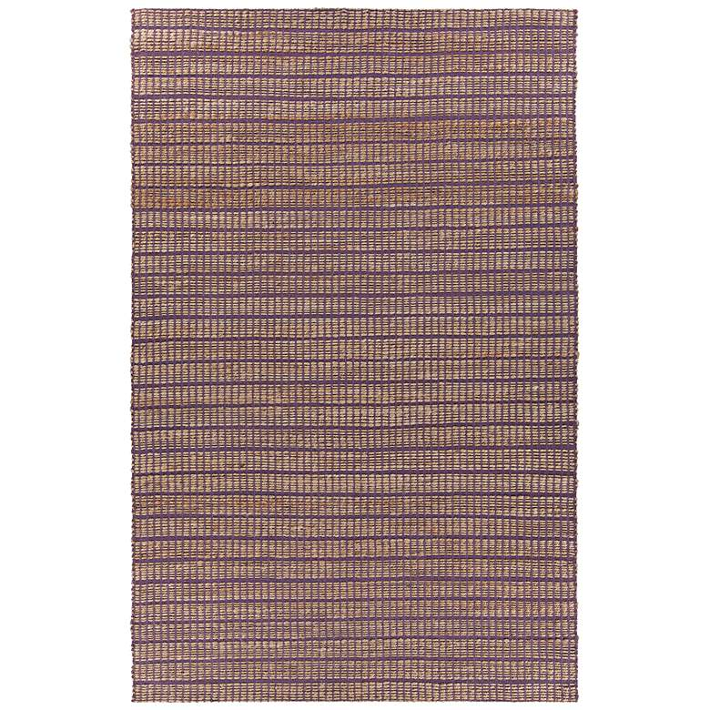 "Chandra Abacus 5'x7'6"" Purple Hand-Woven Area Rug"