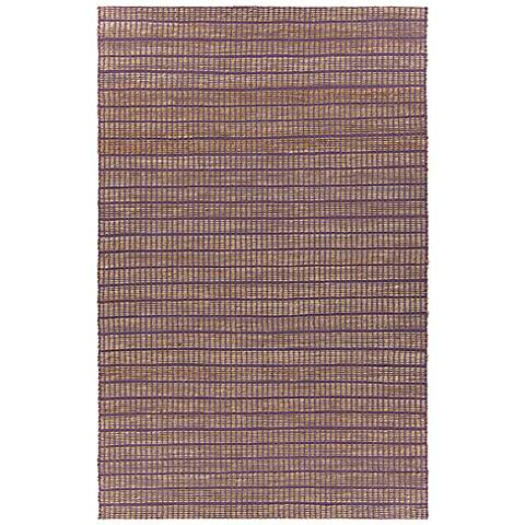 Chandra Abacus Purple Hand-Woven Area Rug