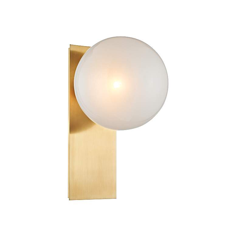 """Hudson Valley Hinsdale 12 3/4""""H Aged Brass Wall Sconce"""