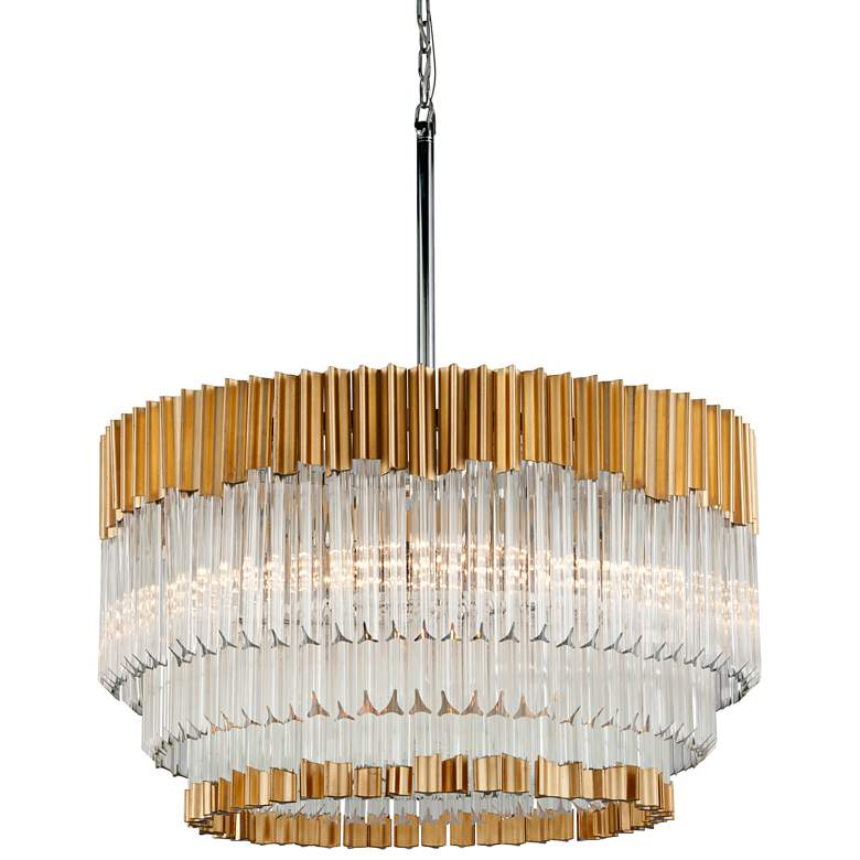 "Corbett Charisma 26"" Wide Gold Leaf Pendant Light"