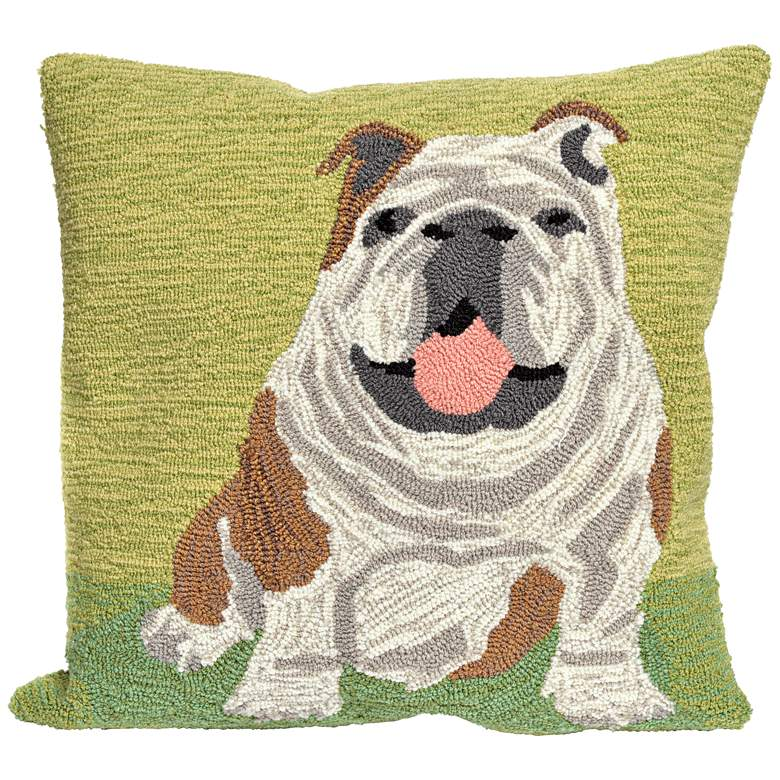 """Frontporch Wet Kiss Green 18"""" Square Indoor-Outdoor Pillow"""