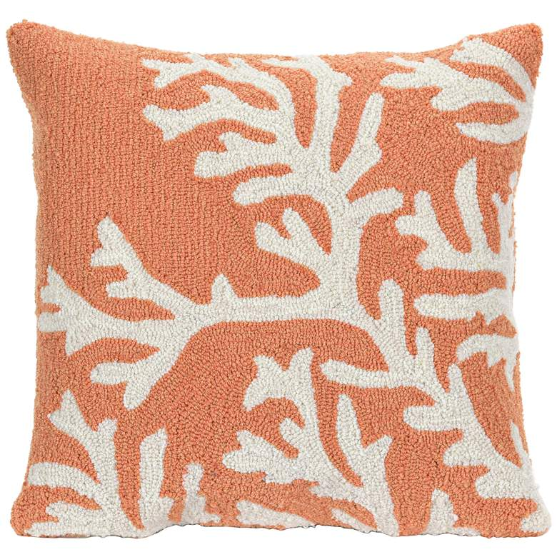 """Frontporch Coral 18"""" Square Throw Indoor-Outdoor Pillow"""
