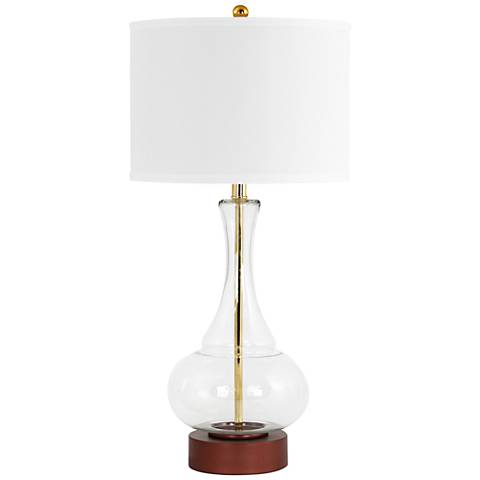 Rita Clear Glass and Dark Copper Table Lamp