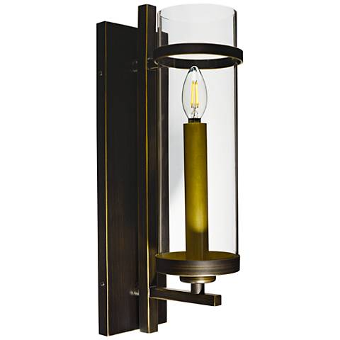 "Maxim Midtown 19"" High Gold Bronze LED Wall Sconce"