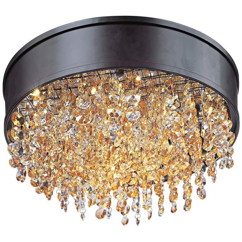 "Maxim Mystic 16"" Wide Bronze LED Ceiling Light"
