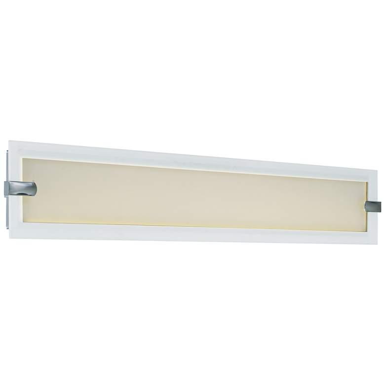 "Maxim Trim 32 3/4"" Wide Satin Nickel LED Bath Light"