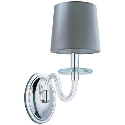 "Maxim Venezia 14""H Nickel Clear Glass 1-Light Sconce"