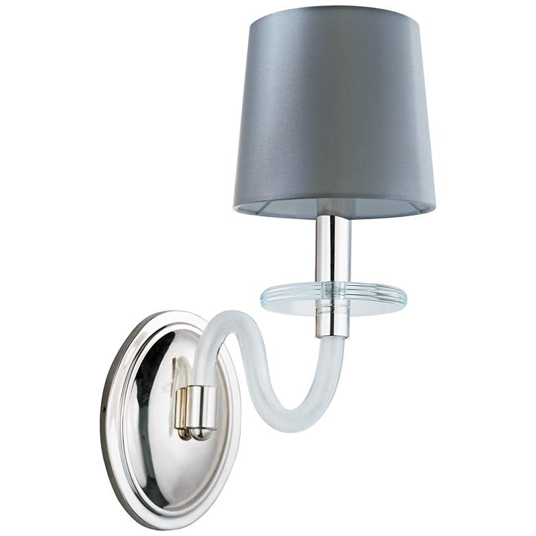 """Maxim Venezia 14""""H Nickel Frosted Frosted 1-Light Sconce"""