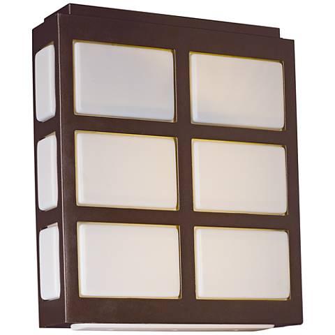 """Maxim Packs 10 1/4""""H Metallic Bronze LED Outdoor Wall Light"""