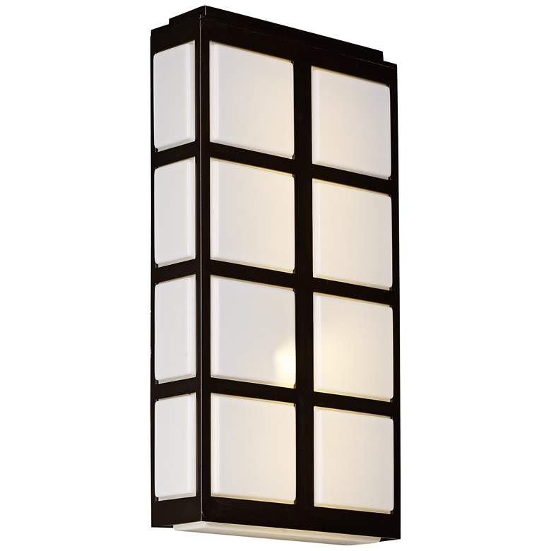 """Maxim Packs 20""""H Metallic Bronze LED Outdoor Wall Light"""