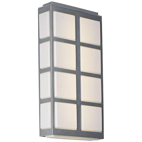 "Maxim Packs 20""H Metallic Silver LED Outdoor Wall Light"