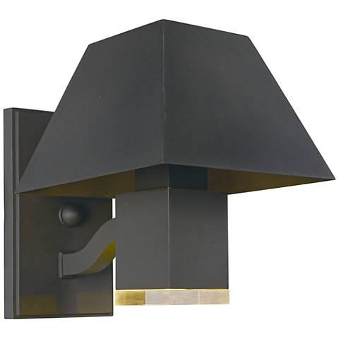 "Maxim Pavilion 8 1/2""H Bronze LED Outdoor Wall Light"