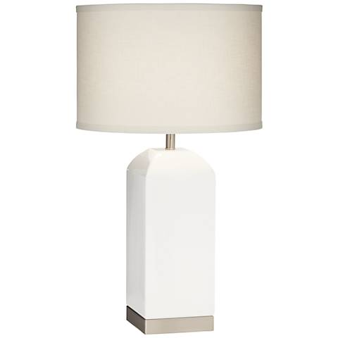 Willa Milk Box White Table Lamp
