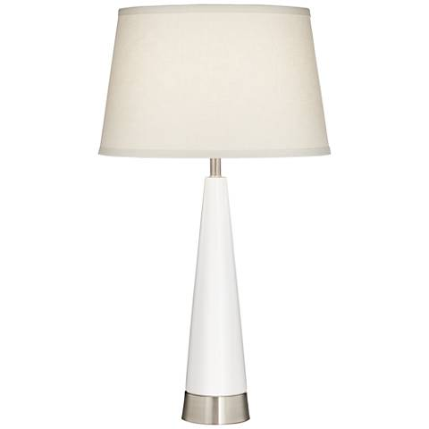 Willa Tapered White Column Table Lamp