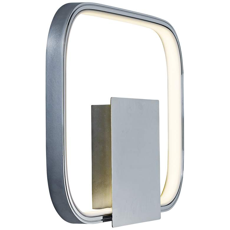 "ET2 Squared 10"" High Polished Chrome LED Wall Sconce"