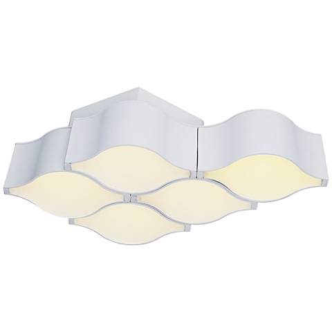 "ET2 Billow 17 1/4"" Wide Matte White LED Ceiling Light"