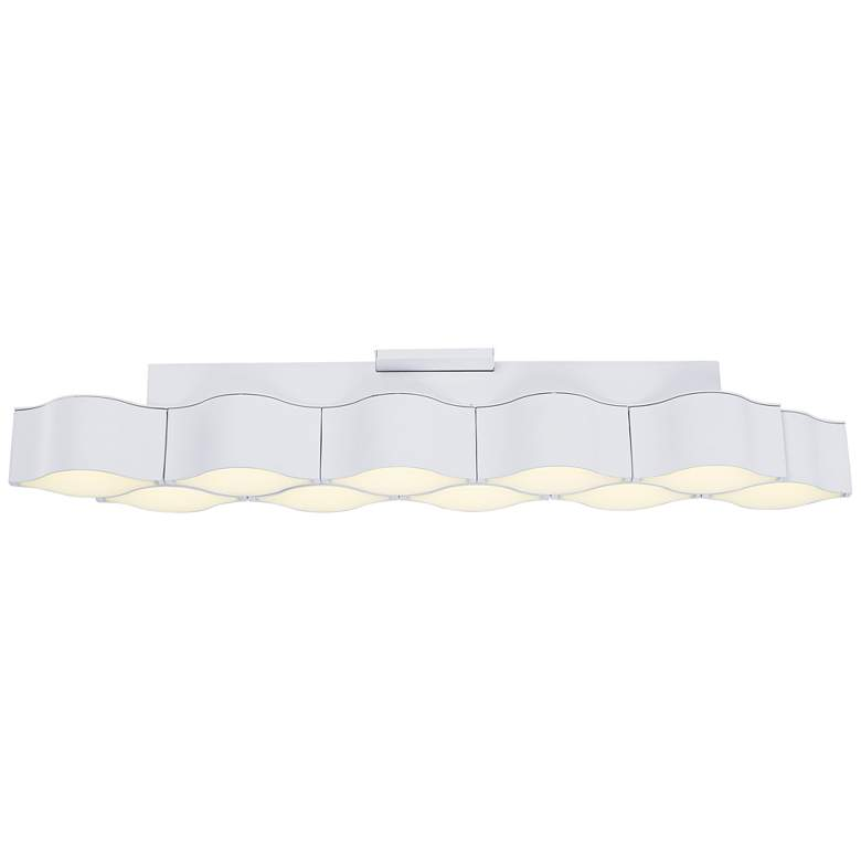 "ET2 Billow 35 1/4"" Wide Matte White LED Ceiling Light"